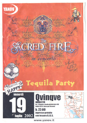 poster for the concert at Quinque of Monastir